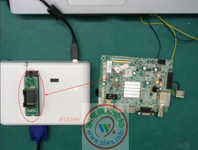 RT809H编程器教程:创维8S16机芯MSD6I88YBCT-Z1-YJ软件损坏处理方法 ... ... ...